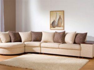 Перетяжка углового дивана на дому в Уфе