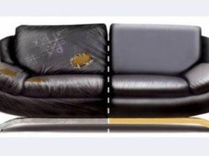 Перетяжка кожаного дивана в Уфе
